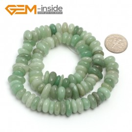 "G6656 Green Jade 3-5x10-12mm Freeform Potato Shape Gemstone Loose Beads Strand 15""Free Shipping Natural Stone Beads for Jewelry Making Wholesale`"