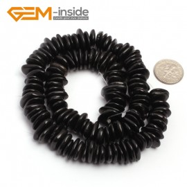 "G6664 Black Agate 3-5x10-12mm Freeform Potato Shape Gemstone Loose Beads Strand 15""Free Shipping Natural Stone Beads for Jewelry Making Wholesale`"