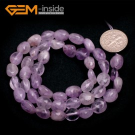 "G6678 6x8mm Light Amethyst  Freeform Loose Beads Strand 15"" Natural Stone Beads for Jewelry Making Wholesale"
