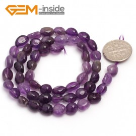 """G6679 6x8mm Amethyst  Freeform Gemstone Loose Beads Strand 15"""" Natural Stone Beads for Jewelry Making Wholesale"""