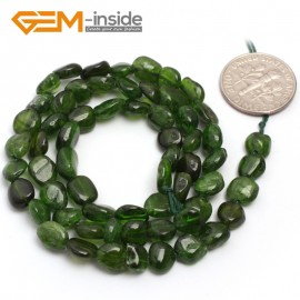 "G6693 6x8mm Dyed Green Crystal Freeform Loose Beads Strand 15 "" Beads for Jewelry Making Wholesale"