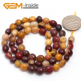 """G6708 6x8mm  Mookiate Jasper Freeform Loose Beads Strand 15"""" Natural Stone Beads for Jewelry Making Wholesale"""