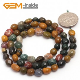 "G6717 6x8mm Ocean Jasper Freeform Loose Beads Strand 15"" Natural Stone Beads for Jewelry Making Wholesale"