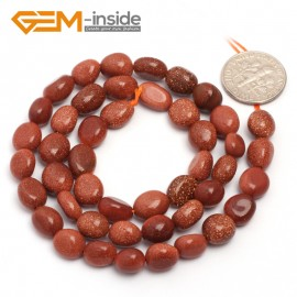 """G6721 6x8mm Gold Sand Stone Freeform Loose Beads Strand 15"""" Natural Stone Beads for Jewelry Making Wholesale"""