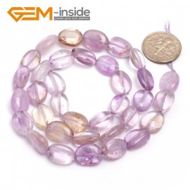 "G6726 Ametrine 9x12mm Natural Freeform Potato Shape Jewelry Making Gemstone Loose Beads15"" Natural Stone Beads for Jewelry Making Wholesale"