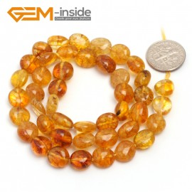 "G6731 Yellow Quartz 9x12mm Natural Freeform Potato Shape Jewelry Making Gemstone Loose Beads15"" Natural Stone Beads for Jewelry Making Wholesale"