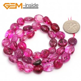 "G6733 Dyed Plum Quartz 9x12mm Natural Freeform Potato Shape Jewelry Making Gemstone Loose Beads15"" Natural Stone Beads for Jewelry Making Wholesale"