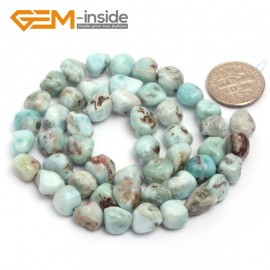 "G6743 Larimar 9x12mm Natural Freeform Potato Shape Jewelry Making Gemstone Loose Beads15"" Natural Stone Beads for Jewelry Making Wholesale"