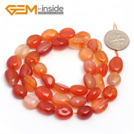 "G6745 Red Carnelian 9x12mm Natural Freeform Potato Shape Jewelry Making Gemstone Loose Beads15"" Natural Stone Beads for Jewelry Making Wholesale"