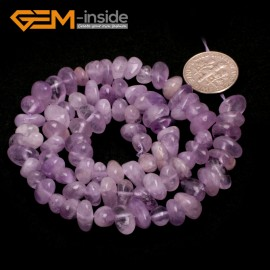 "G6754 Light Amethyst Freeform Chips Beads Strands 15"" 4-6x7-10mm Jewelry Making 45 Natural Materials Natural Stone Beads for Jewelry Making Wholesale`"