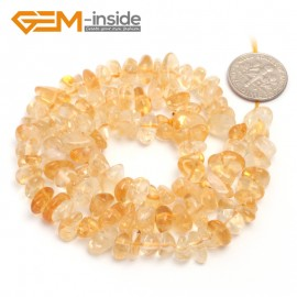"G6757 Yellow Citrine Freeform Chips Beads Strands 15"" 4-6x7-10mm Jewelry Making 45 Natural Materials Natural Stone Beads for Jewelry Making Wholesale`"