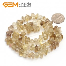 "G6760 Yellow Lemon Quartz Freeform Chips Beads Strands 15"" 4-6x7-10mm Jewelry Making 45 Natural Materials Natural Stone Beads for Jewelry Making Wholesale`"