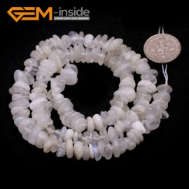 """G6766 White Moonstone Freeform Chips Beads Strands 15"""" 4-6x7-10mm Jewelry Making 45 Natural Materials Natural Stone Beads for Jewelry Making Wholesale`"""