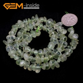 "G6772 Green Prehnite Freeform Chips Beads Strands 15"" 4-6x7-10mm Jewelry Making 45 Natural Materials Natural Stone Beads for Jewelry Making Wholesale`"