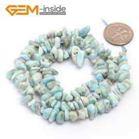 "G6783 Larimar Freeform Chips Beads Strands 15"" 4-6x7-10mm Jewelry Making 45 Natural Materials Natural Stone Beads for Jewelry Making Wholesale`"