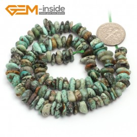 "G6784 Africa Turquoise Freeform Chips Beads Strands 15"" 4-6x7-10mm Jewelry Making 45 Natural Materials Natural Stone Beads for Jewelry Making Wholesale`"