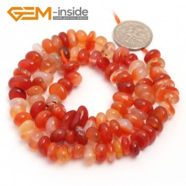 "G6791 Red Carnelian Freeform Chips Beads Strands 15"" 4-6x7-10mm Jewelry Making 45 Natural Materials Natural Stone Beads for Jewelry Making Wholesale`"