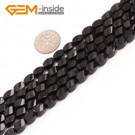 """G6873 5x8mm Twist Grum Black Agate Onyx Beads Strands 15"""" Gemstone Loose Beads Natural Stone Beads for Jewelry Making Wholesale"""