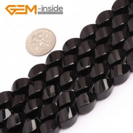 "G6875 8x12mm Twist Grum Black Agate Onyx Beads Strands 15"" Gemstone Loose Beads Natural Stone Beads for Jewelry Making Wholesale"
