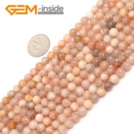 "G6896 6mm Natural Round Sunstone Beads Jewellery Making Design Gemstoe Beads Strands 15"" Natural Stone Beads for Jewelry Making Wholesale"