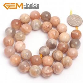 "G6899 12mm Natural Round Sunstone Beads Jewellery Making Design Gemstoe Beads Strands 15"" Natural Stone Beads for Jewelry Making Wholesale"