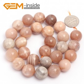 "G6900 14mm Natural Round Sunstone Beads Jewellery Making Design Gemstoe Beads Strands 15"" Natural Stone Beads for Jewelry Making Wholesale"