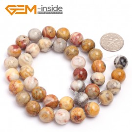 """G6917 10mm Natural Crazy Lace Agate Round Loose Beads Strand 15"""" 6-12mm for Jewelry Making Natural Stone Beads for Jewelry Making Wholesale"""