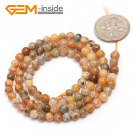 "G6919 4mm Round Natural Crazy Lace Agate Loose Beads15""  4-14m Jewelry Crafts Making Beads Natural Stone Beads for Jewelry Making Wholesale"