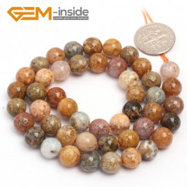 "G6921 8mm Round Natural Crazy Lace Agate Loose Beads15""  4-14m Jewelry Crafts Making Beads Natural Stone Beads for Jewelry Making Wholesale"