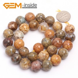 "G6922 12mm Round Natural Crazy Lace Agate Loose Beads15""  4-14m Jewelry Crafts Making Beads Natural Stone Beads for Jewelry Making Wholesale"