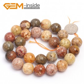 "G6923 14mm Round Natural Crazy Lace Agate Loose Beads15""  4-14m Jewelry Crafts Making Beads Natural Stone Beads for Jewelry Making Wholesale"