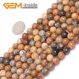 """G6925 8mm Natural Round Faceted Crazy Lace Agate Jewelry Making Loose Beads 15"""" 6-14mm Natural Stone Beads for Jewelry Making Wholesale"""