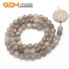 "G6936 6mm Natural Round Faceted Labradorite Beads Jewelery Making Beads 15"" 6-14mm Pick Natural Stone Beads for Jewelry Making Wholesale`"