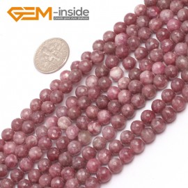 """G6954 6mm Round Pink Natural Chinese Tourmaline Gemstone Loose Beads 15""""  Natural Stone Beads for Jewelry Making Wholesale"""