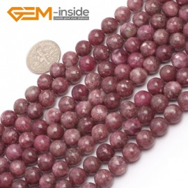 """G6955 8mm Round Pink Natural Chinese Tourmaline Gemstone Loose Beads 15"""" Natural Stone Beads for Jewelry Making Wholesale"""