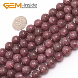 """G6956 10mm Round Pink Natural Chinese Tourmaline Gemstone Loose Beads 15"""" Natural Stone Beads for Jewelry Making Wholesale"""