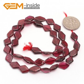 "G6988 7x10mm Rhombus Natural Garnet Beads  DIY Jewelry Making Gemstone Loose  Beads Strand 15"" Gbeads Natural Stone Beads for Jewelry Making Wholesale`"