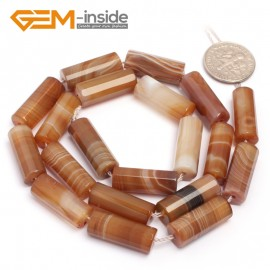 """G7014 8x20mm Natural Column Faceted Botswana Agate Loose Beads Gemstone 15"""" Jewelry Making Natural Stone Beads for Jewelry Making Wholesale"""