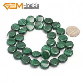 "G7020 12mm Coin Natual Malachite Beads Jewelry Making Gemstone Loose Beads 15 "" Free Ship Natural Stone Beads for Jewelry Making Wholesale"