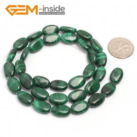 "G7025 8x12mm Oval Gemstone Grade A Malachite DIY Jewelry Making Loose Beads 15"" Selectable Shape Natural Stone Beads for Jewelry Making Wholesale`"