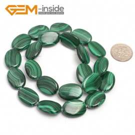 "G7026 13x18mm Oval Gemstone Grade A Malachite DIY Jewelry Making Loose Beads 15"" Selectable Shape Natural Stone Beads for Jewelry Making Wholesale`"