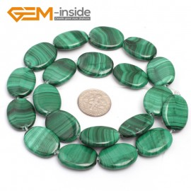 "G7027 15x20mm Oval Gemstone Grade A Malachite DIY Jewelry Making Loose Beads 15"" Selectable Shape Natural Stone Beads for Jewelry Making Wholesale`"
