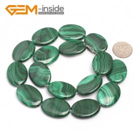 "G7028 18x25mm Oval Gemstone Grade A Malachite DIY Jewelry Making Loose Beads 15"" Selectable Shape Natural Stone Beads for Jewelry Making Wholesale`"