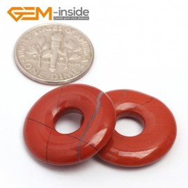 G7041 Red Jasper 20mm Ring Gemstone Lucky Buckle DIY Earrings Pendant Making Loose Beads Natural Stone Beads for Jewelry Making Wholesale`