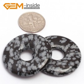 G7051 Snowflake (30mm) Natural Ring Lucky Buckle Beads For Earrings and Pendants 1 pcs 30 40 50mm Pick Pendants Fashion Jewelry Jewellery
