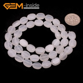 "G7070 White Agate 8x10mm Natural Gemstone DIY Jewelry Crafts Making Stone Loose Beads Strand 15""Natural Stone Beads for Jewelry Making Wholesale`"