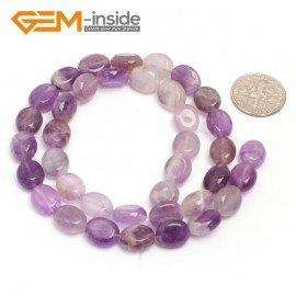 "G7071 Amethyst 8x10mm Natural Gemstone DIY Jewelry Crafts Making Stone Loose Beads Strand 15""Natural Stone Beads for Jewelry Making Wholesale`"
