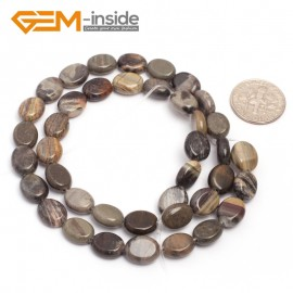 "G7074 Silver Leaf Jasper 8x10mm Natural Gemstone DIY Jewelry Crafts Making Stone Loose Beads Strand 15""Natural Stone Beads for Jewelry Making Wholesale`"