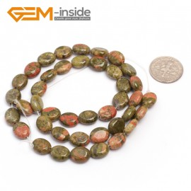 "G7078 Unakite 8x10mm Natural Gemstone DIY Jewelry Crafts Making Stone Loose Beads Strand 15""Natural Stone Beads for Jewelry Making Wholesale`"
