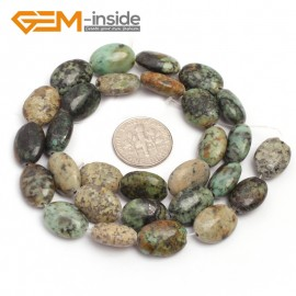 """G7096 African Turquoise 10x14mm  Natural Gemstone DIY Jewelry Crafts Making Stone Loose Beads Strand 15"""" Natural Stone Beads for Jewelry Making Wholesale"""